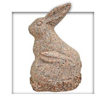 Hase Granit Rosa Höhe 30 cm