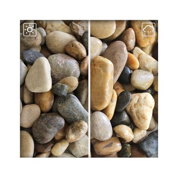 Bunter Zierkies Flusskiesel River Pebbles Gartenkies Ziersteine Gartenteich 30/60 mm
