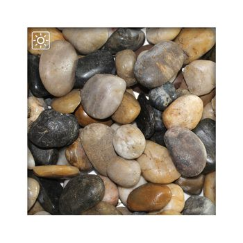 Bunter Zierkies Flusskiesel River Pebbles Gartenkies Ziersteine Gartenteich 20/30 mm