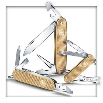 Victorinox Classic, 58 mm, Alox Limited Edition 2019, Champagner-Gold