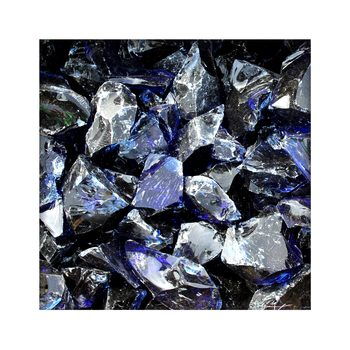 Glasbrocken Glasbruch Glassteine Glas Gabione 30-60 mm Dark Blue
