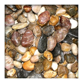 Bunter Zierkies Flusskiesel River Pebbles Gartenkies Gartenteich 30/90